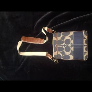 Coach Crossbody bag (Navy blue and beige)
